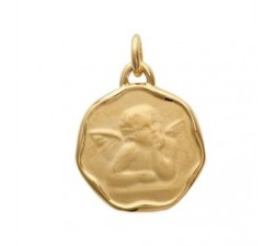 Baptism Medal - Gold-Plated Pendant