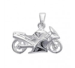 Motorcycle - Silver Pendant