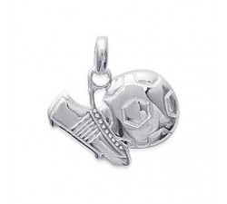 Football Chaussures - Pendentif Argent