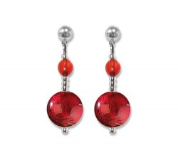 Frida - Red - Earrings - Antica Murrina