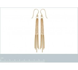 Chains - Gold-Plated Earrings-alt