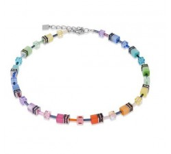 2838 Multicolor Pastel 3 - Necklace Cœur de Lion