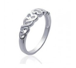 Hearts - Silver Ring