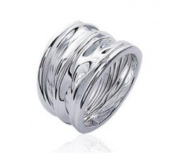 Crumpled - Silver Ring