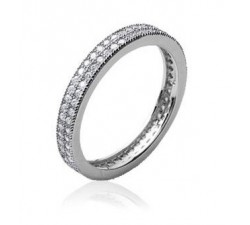 Band Micro Zirconia - Silver Ring