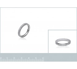 Band Micro Zirconia - Silver Ring-alt