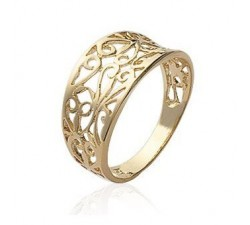 Lace - Gold-Plated Ring