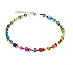 2838 Multicolour Rainbow - Collier Coeur de Lion