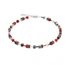 4014 Red Grey - Necklace Cœur de Lion