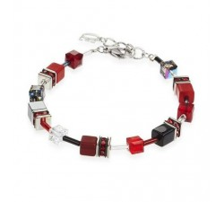 4014 Red Grey - Bracelet Cœur de Lion