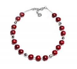 Frida - Red - Necklace - Antica Murrina
