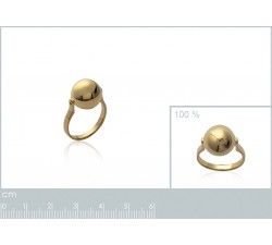 Ball - Gold-Plated Ring-alt