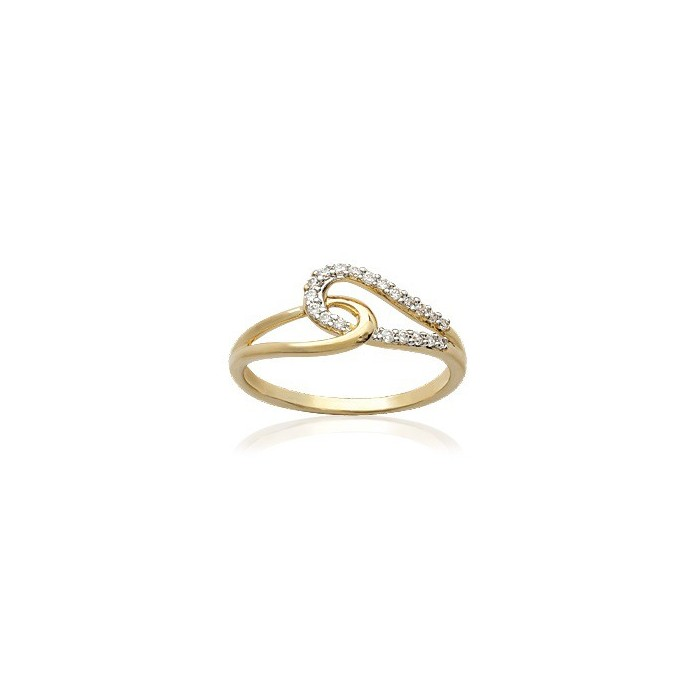 Node - Gold-Plated Ring