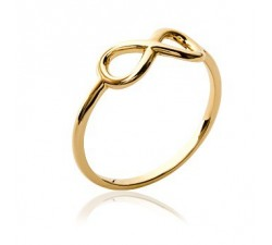 Infinity - Gold-Plated Ring