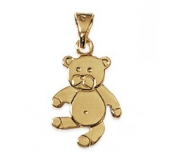 Teddy Bear - Gold-Plated Pendant