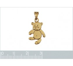 Teddy Bear - Gold-Plated Pendant-alt