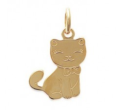 Cat - Gold-Plated Pendant
