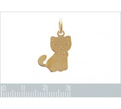 Cat - Gold-Plated Pendant-alt