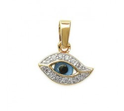 Protective Eye - Gold-Plated Pendant