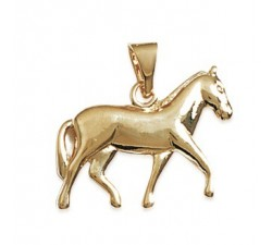 Horse - Gold-Plated Pendant