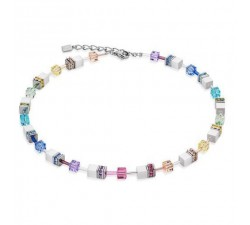 2838 Multicolor Pastel White - Necklace Cœur de Lion