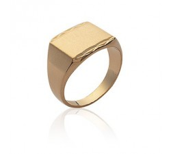 Signet - Rectangle - Gold-Plated Ring