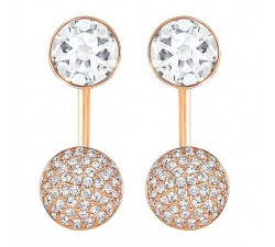 Forward - White Rose-Gold - Earrings - Swarovski