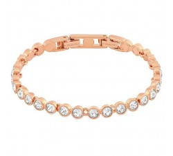 Tennis - White Rose-Gold - Bracelet - Swarovski