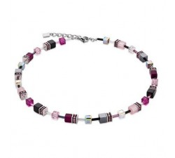 4014 Pink Grey - Necklace Cœur de Lion