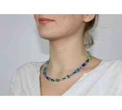 2838 Blue Green - Necklace Cœur de Lion