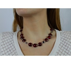 Frida - Red - Necklace - Antica Murrina-alt