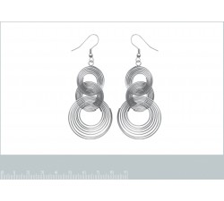 Intertwined Rings - Stainless Steel Earrings-alt