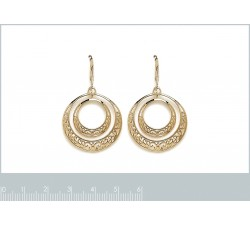 Circles - Gold-Plated Earrings-alt