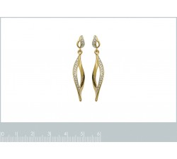Flame - Gold-Plated Earrings-alt