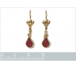 Crystal - Red - Gold-Plated Earrings-alt