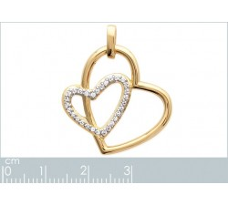 Hearts - Gold-Plated Earrings-alt