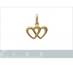 Hearts - Gold-Plated Pendant-alt