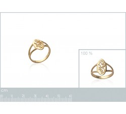 Lace - Gold-Plated Ring-alt