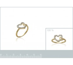 Hearts - Gold-Plated Ring-alt