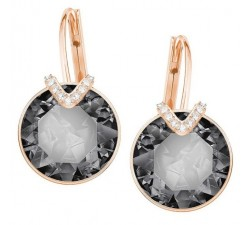Bella - Grey Rose-Gold - Earrings - Swarovski
