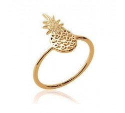 Pineapple - Gold-Plated Ring