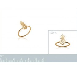 Pineapple - Gold-Plated Ring-alt
