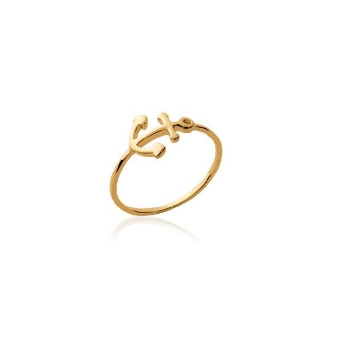 Anchor - Gold-Plated Ring