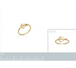 Anchor - Gold-Plated Ring-alt