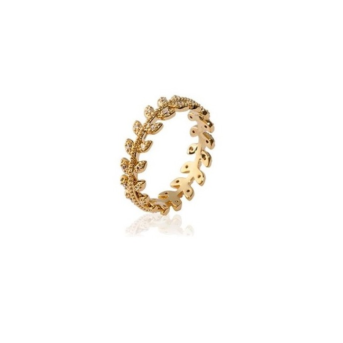 Laurels - Gold-Plated Ring