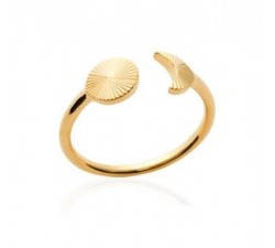 Moon and Sun - Gold-Plated Ring