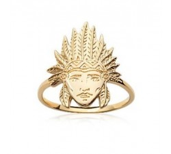Indian Chief - Gold-Plated Ring