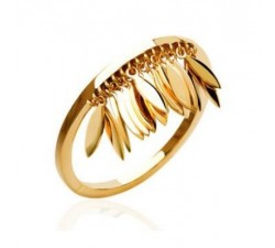 Petals - Gold-Plated Ring