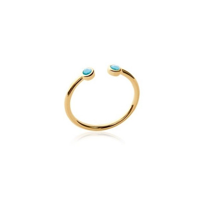 Duo Open - Gold-Plated Ring