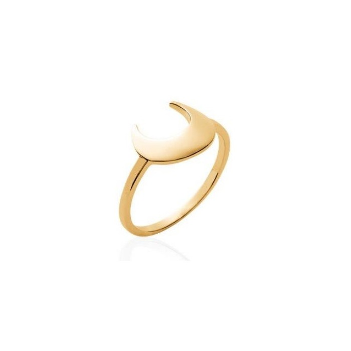 Moon - Gold-Plated Ring